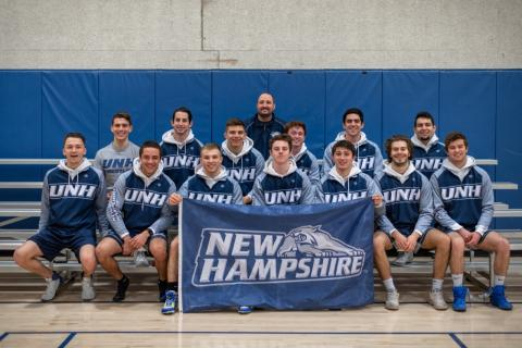 team photo of UNH wrestling